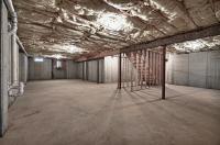 full, open basement